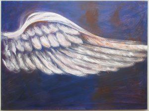 Beflügelung 1 (Acryl auf Leinwand, 120cm x 90cm)