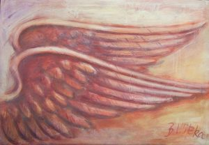 Beflügelung 10 (Acryl auf Leinwand, 100cm x 70cm)