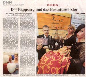 Dresdener Nachrichten 17/18. Mai 2008