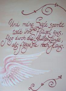Engelsflügel - Meine Seele (Acryl auf Leinwand, 70cm x 50cm)