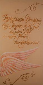 Engelsflügel - Vermächtnis (Acryl auf Leinwand, 143cm x 70cm)