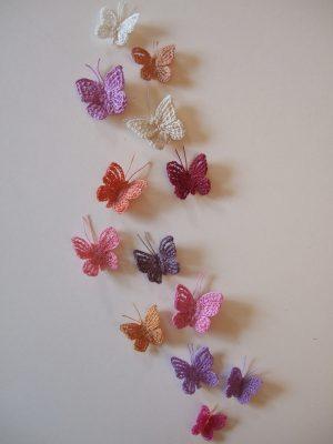 Schmetterlinge: gehäkelt