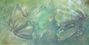 Schmetterlinge, Acryl auf Leinwand, 50 x 90 cm