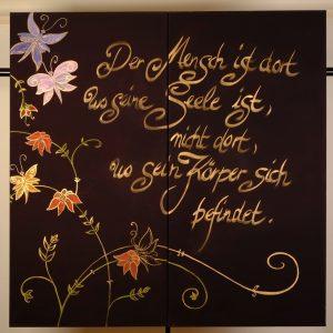Diptychon: Schmetterlinge, Acryl auf Leinwand, , 2 mal 60 x 120 cm