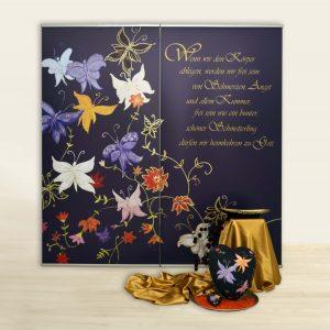 Diptychon: Schmetterlinge, Banner, farewell-print.de