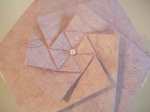 Papier-Urne: Espiritu Deckel (Japanisches Strohseidenpapier flieder)