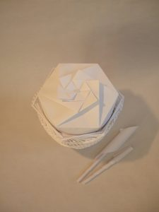 Papier-Urne: Espiritu (Draufsicht)