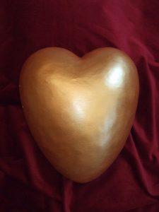 Urne Das Herzlicht (gelbgold)