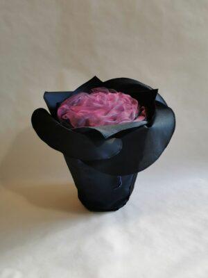 Urne in Blütenform: Hidalga /nachtblau und magenta)